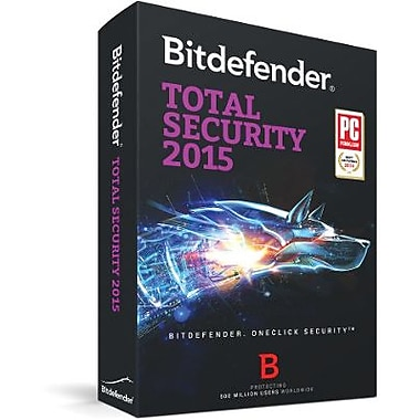 Bitdefender Total Security 2015 1 User 1 Year for Windows (1 User) [Download]