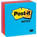 Post-it® 4in. x 4in. Line-Ruled Jaipur Colors Notes, 3 Pads/Pack