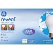8-Pack GE Reveal A19  Light Bulb