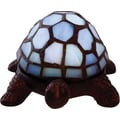 River of Goods Stained Glass Battery Operated Wireless Turtle Accent Lamps