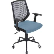 Lumisource Network Office Chair Black and Smokey Blue