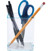 Staples Acrylic Blue Edge Pencil Cup