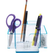 Staples Acrylic Revolving Desk Organizer, Blue Edge