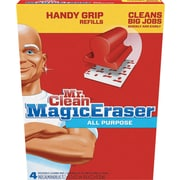 Magic Eraser Replacement Pads For Handy Grip, 4 3/5 x 3 1/5, White, 4/Pk