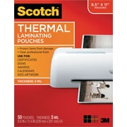 Scotch™ TP5854-50 Thermal Laminating Pouches, 5 mil, Letter Size, 50/Pack