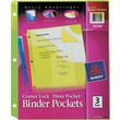 Corner Lock Three Pocket Binder Pocket, 11 1/4 x 9 1/4, Assorted Color, 3/Pk