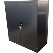 Charcoal Swing-door Cabinet 2 Shelves