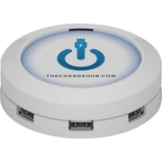 ChargeHub™ USB Universal Charging Station, Round, White