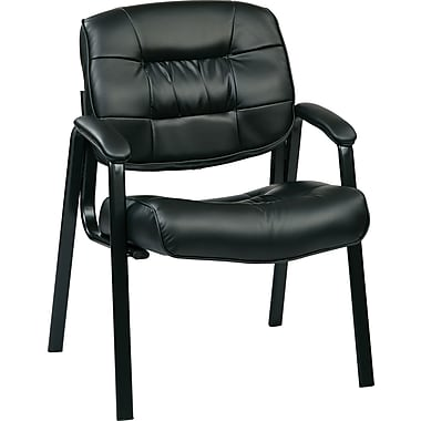 Office Star EC8124-EC3 Guest Chair, Black
