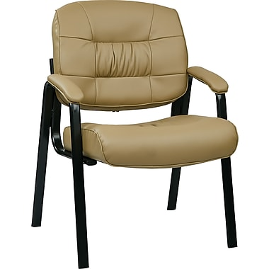 Office Star Deluxe Eco Leather Guest Chair, Tan