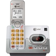 AT&T EL52103 One-Handset DECT 6.0 Expandable Cordless Phone with Answering System and Caller ID/Call Waiting, Silver
