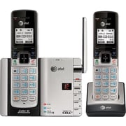 AT&T TL92273 DECT 6.0 Expandable Cordless Phone with Bluetooth Connect to Cell and Answering System, Silver/Black, 2 Handsets