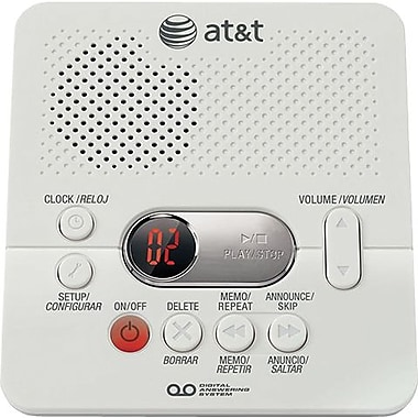 AT&T 1740 Digital Answering Machine with Time/Day Stamp