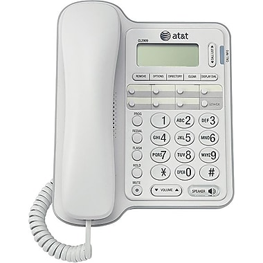 AT&T CL2909 Corded Phone with Caller ID, White