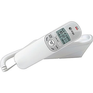 AT&T TR1909 Corded Phone with Caller ID, White