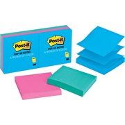 "Post-it ® 3"" x 3"" Jaipur Colors Pop-Up Notes, 6/Pack"
