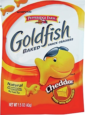 Pepperidge Farm Goldfish Crackers 1.5 oz. Bags 72 Bags Box