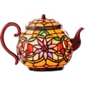 River of Goods 6.5in. H Stained Glass Teapot Accent Lamp