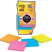 "Post-it® Super Sticky Full Adhesive 3"" x 3"" Rio De Janiero Notes, 4 Pads/Pack"