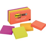 "Post-it® Super Sticky Notes, 2"" x 2"", Marrakesh Collection, 8 Pads/Pack (6228SSAN)"