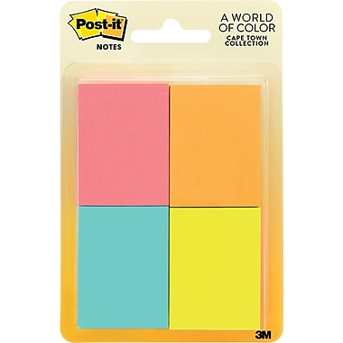 Post-it® 1 1/2in.x 2in. Cape Town Colors Page Markers, 400 Flags/Pack