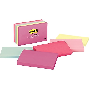 Post-it® 3in. x 5in. Marseille Notes, 5 Pads/Pack