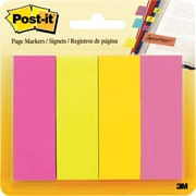 "Post-it® 1"" x 3"" Jaipur Colors Page Markers, 200 Flags/Pack"