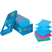 "Post-it® Pop-up Notes, 3"" x 3"", Jaipur Collection, 18 Pads/Cabinet Pack (R330-18AUCP)"