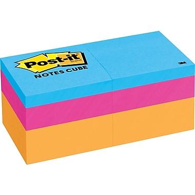Post-it® 2in. X 2in. Orange Wave Mini Cube, 2 Pads/Pack