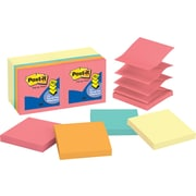 "Post-it® Pop-up Notes, 3"" x 3"", Canary Yellow and Cape Town colors, 14 pads/pack"