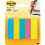 "Post-it® 1/2"" Page Markers, Jaipur Collection, 5 Pads/Pack (670-5AU)"