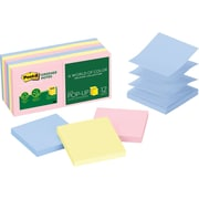 "Post-it® 3"" x 3"" Recycled Helsinki Pop-Up Notes, 12 Pads/Pack"