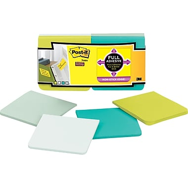 Post-it® Super Sticky Full Adhesive, 3in. x 3in. Bora Bora Notes, 12 Pads/Pack