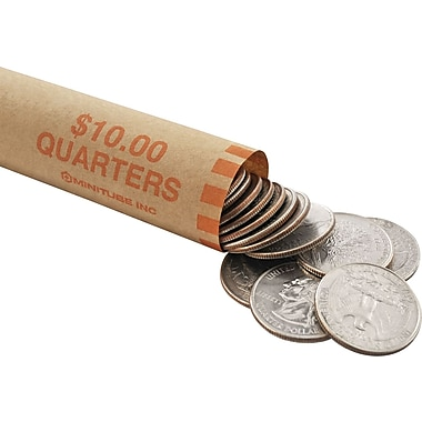 MMF Industries™Tubular Coin Wrapper, Quarters
