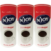 'N Joy Pure Sugar Value Pack, 20 oz. Canister, 3/Pack