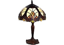 16' Stained Glass Amber Halston Table Lamp