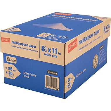 staples multipurpose paper 8 12