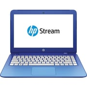 "HP Stream 13-c010nr 13.3"" Laptop with HD WLED-backlit display, Intel® Celeron® Turbo Boost Processor, 2GB RAM, Windows 8.1, Blue"