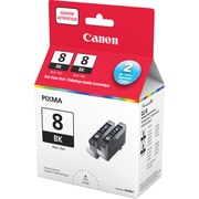 Canon® CLI-8 Black Ink Tank, Twin Pack (0620B014)