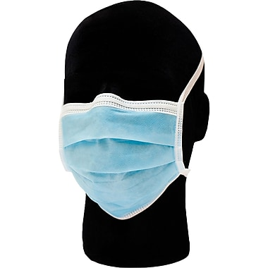 priMED Premium Surgical Face Masks, Tie-On, Blue, 50-Pack