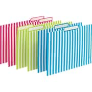 Poppin File Folders Verticle Stripes Set of 6 Lime/Pink/Pool