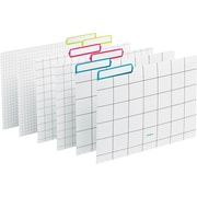 Poppin File Folders Grid Set of 6 Lime/Pink/Pool