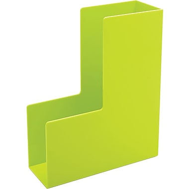 Poppin Lime Green Magazine File Box Staples