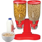 Double Cereal Dispenser, Red