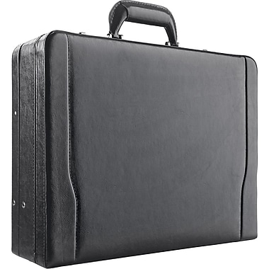 Solo Classic Leather Laptop Attache, Black (488-4)