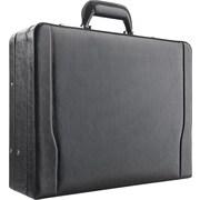 Solo Classic Leather Laptop Attache, Black (488-4)