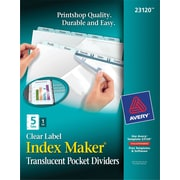 Index Maker Plastic Dividers w/Pkt 5 tab
