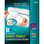 Index Maker Plastic Dividers w/Pkt 8 tab