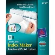 Index Maker Plastic Dividers w/Pkt 8 tab