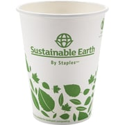 Sustainable Earth by Staples - Gobelets compostables pour boissons chaudes, 12 oz